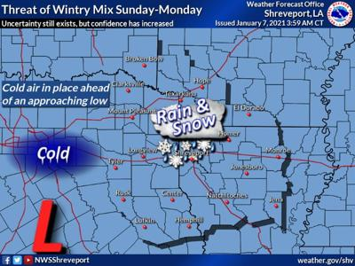 It's still early to say for certain, but a wintry mix a possibility this weekend, National Weather Service says