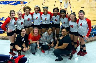 Volleyball team wins playoff