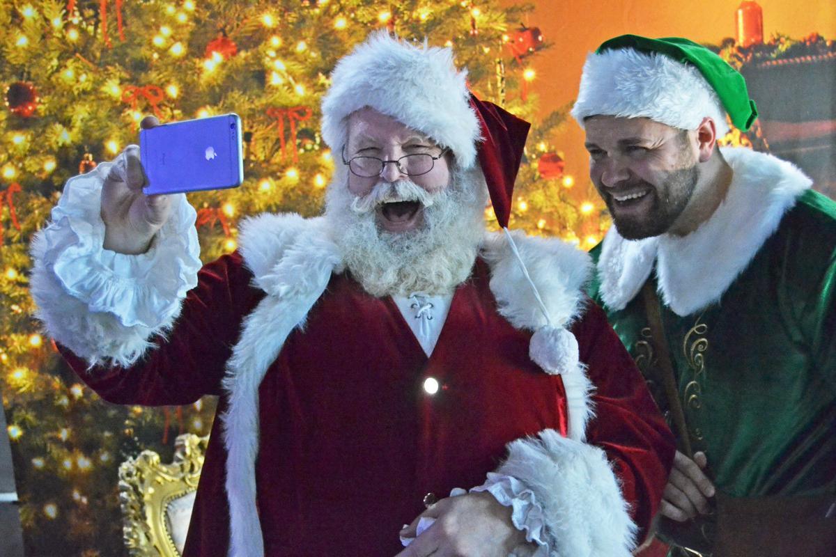 An 'elfie' with Santa