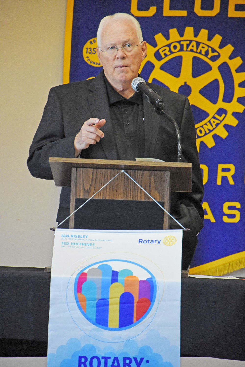 Commissioner talks budget at Rotary