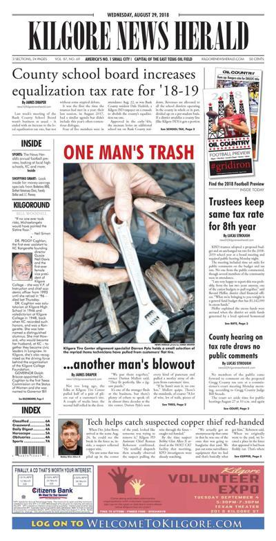 Kilgore News Herald 8-29-18