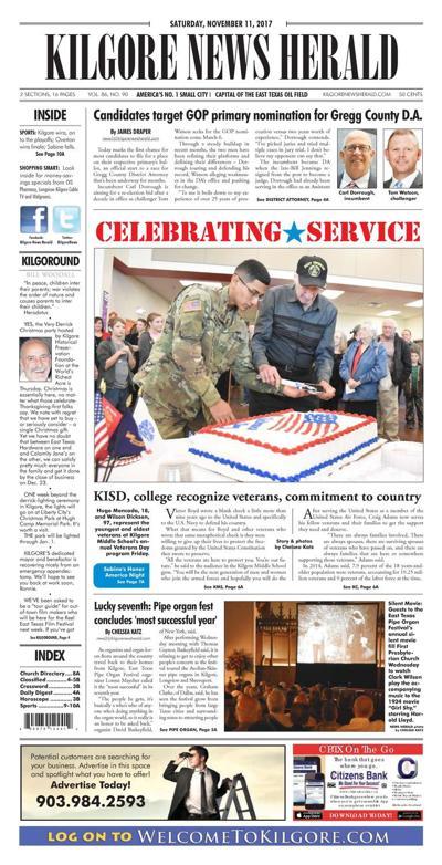 Kilgore News Herald 11-11-17