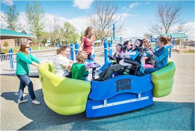 Inclusive playground moves forward hand-in-hand with city