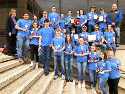 Sabine students snag third straight TMSCA victory