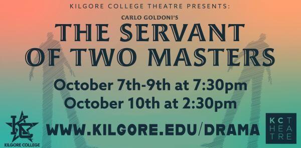 Kilgore College Theatre to present 'The Servant of Two Masters'