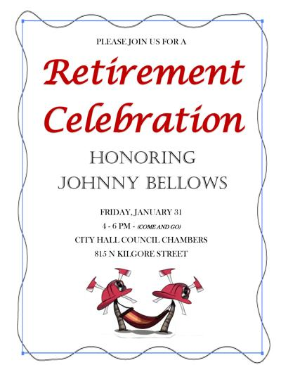 Chief Bellows Retirement Flyer