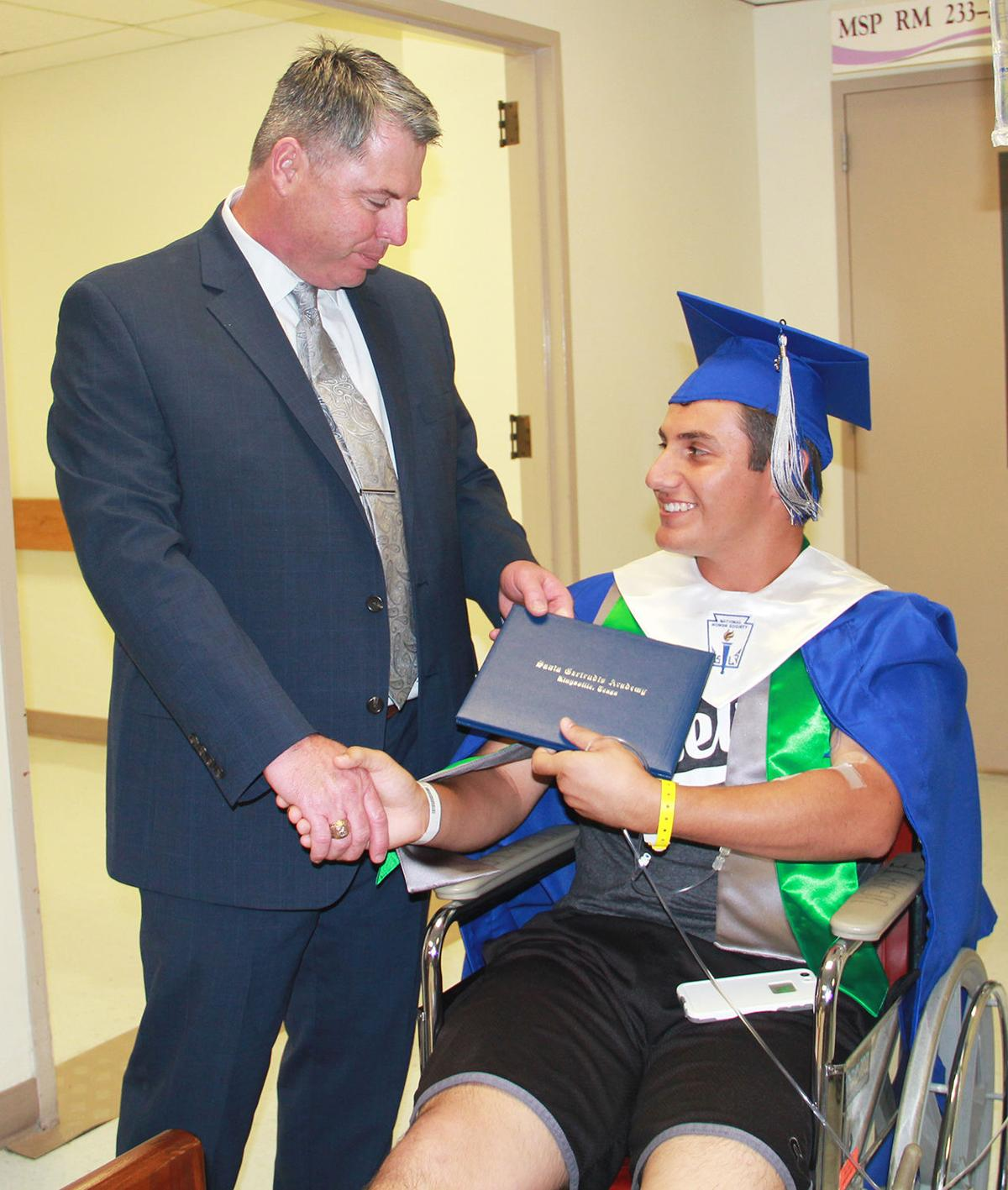 Academy rallies for graduate