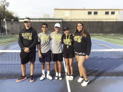 Badgers, Brahmas earn gold and silver in tennis tourney