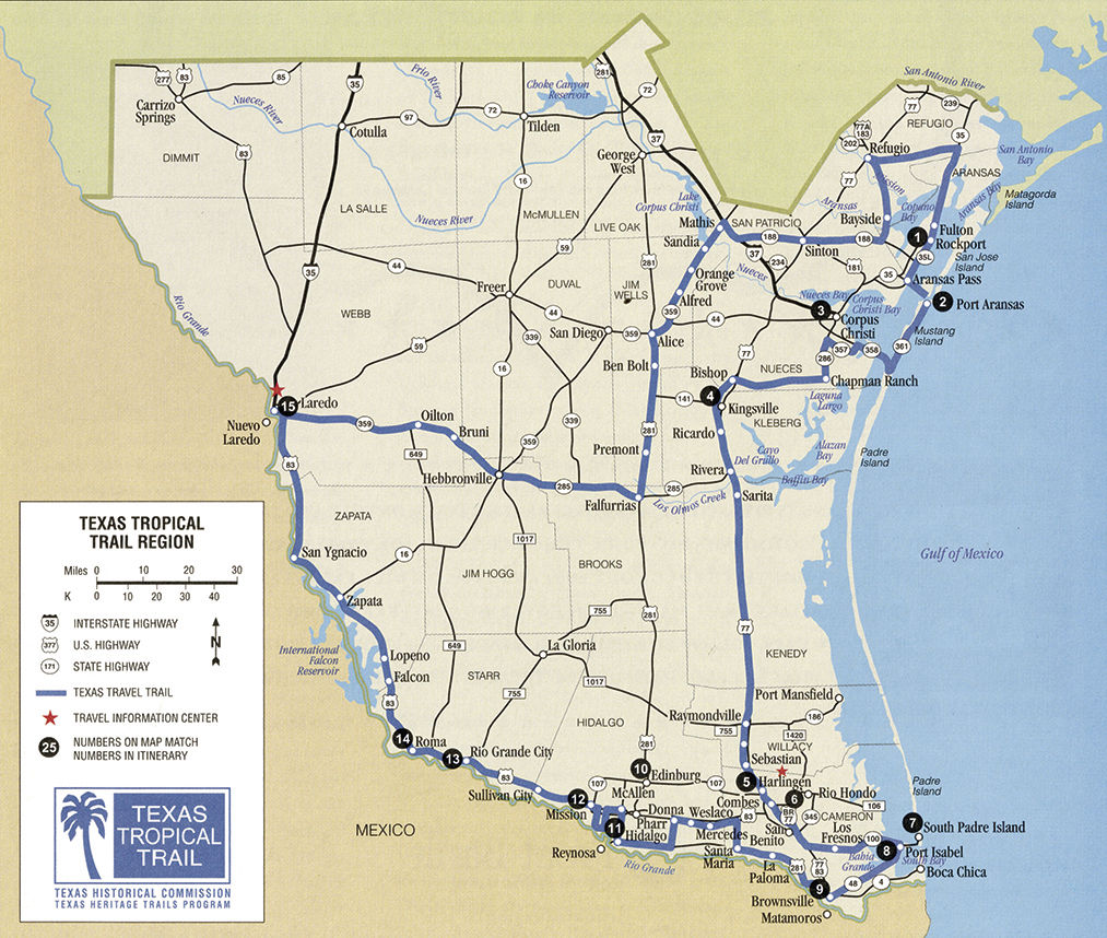Map Of Texas Kingsville.Texas Tropical Trails Region Collection News Kingsvillerecord Com