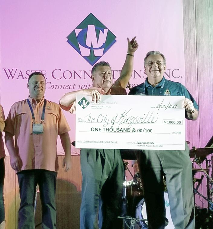 Kingsville City Commissioner Al Garcia Won A 1000 Beautification Grant From Waste Connections Texas Cities Got Talent Competition