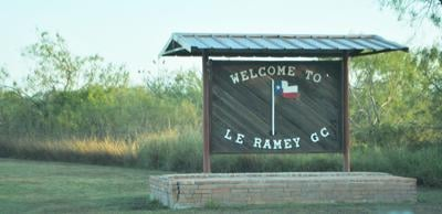 L.E. Ramey welcome sign