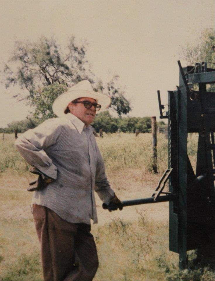 Robert Howard Gafford is pictured working in the ranch.