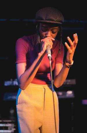 Little Simz performing