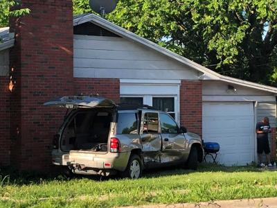 Columbia fender bender forces vehicle off road into house