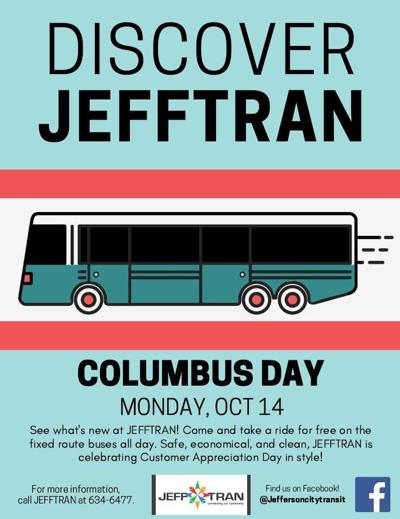 Ride the bus for free Monday