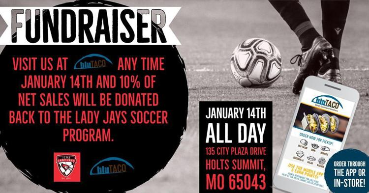 Lady Jays Soccer Fundraiser at BluTaco
