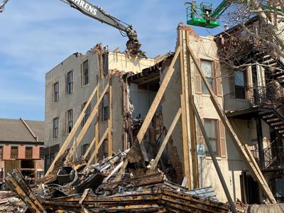 Crumbling Jefferson City building undergoes demolition