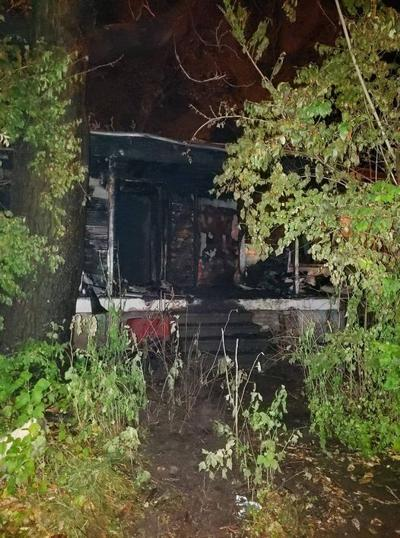 Vacant home in Mexico heavily damaged by fire