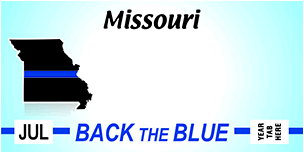 "MO gets new ""Back the Blue"" plate"