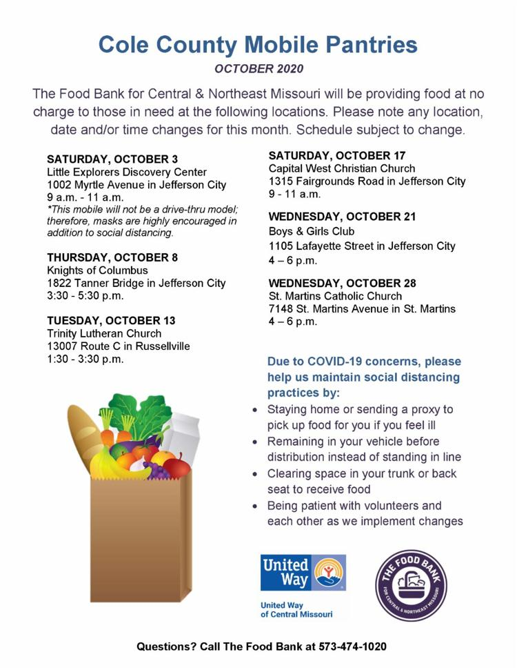 Cole County Mobile Food Pantry in Jefferson City