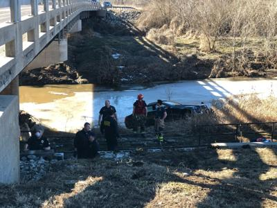 Two hospitalized after police chase ends in Columbia creek