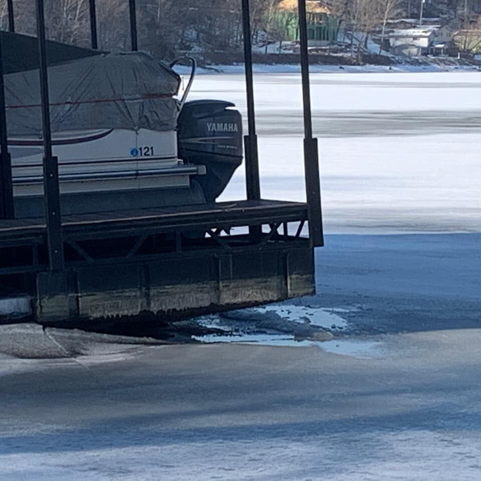 Historical low-water levels and ice wreck havoc at Lake of the Ozarks