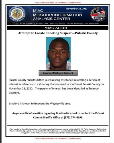 Person of interest named for last week's shooting in Pulaski County