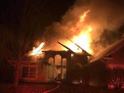 Chamois Drive house fire