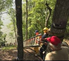 Lake area man rescued after 150-foot fall