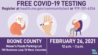 Free COVID-19 testing Friday in Columbia
