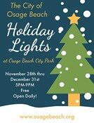 Osage Beach Holiday Lights in the Park
