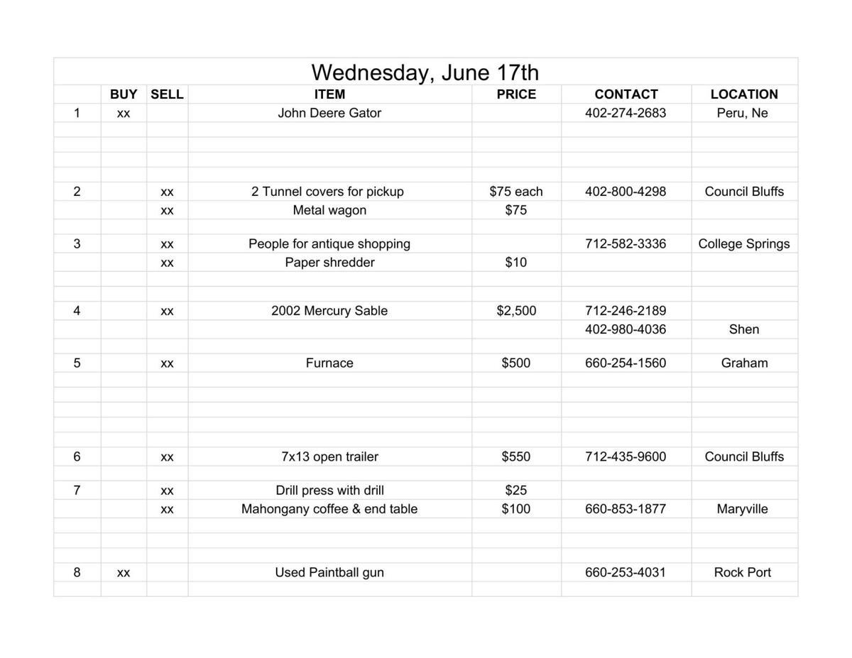 Wednesday, June 17th