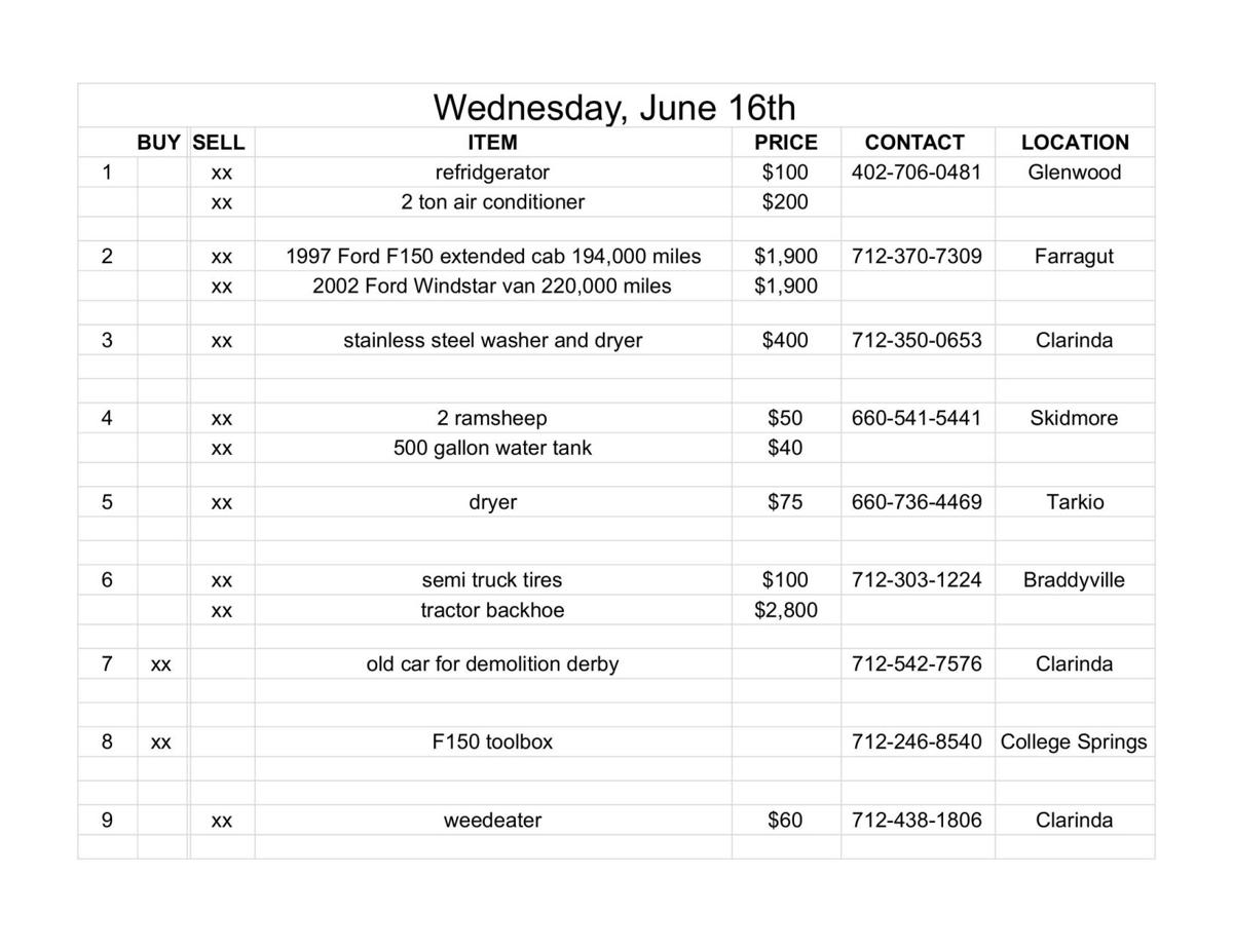 Wednesday, June 16th