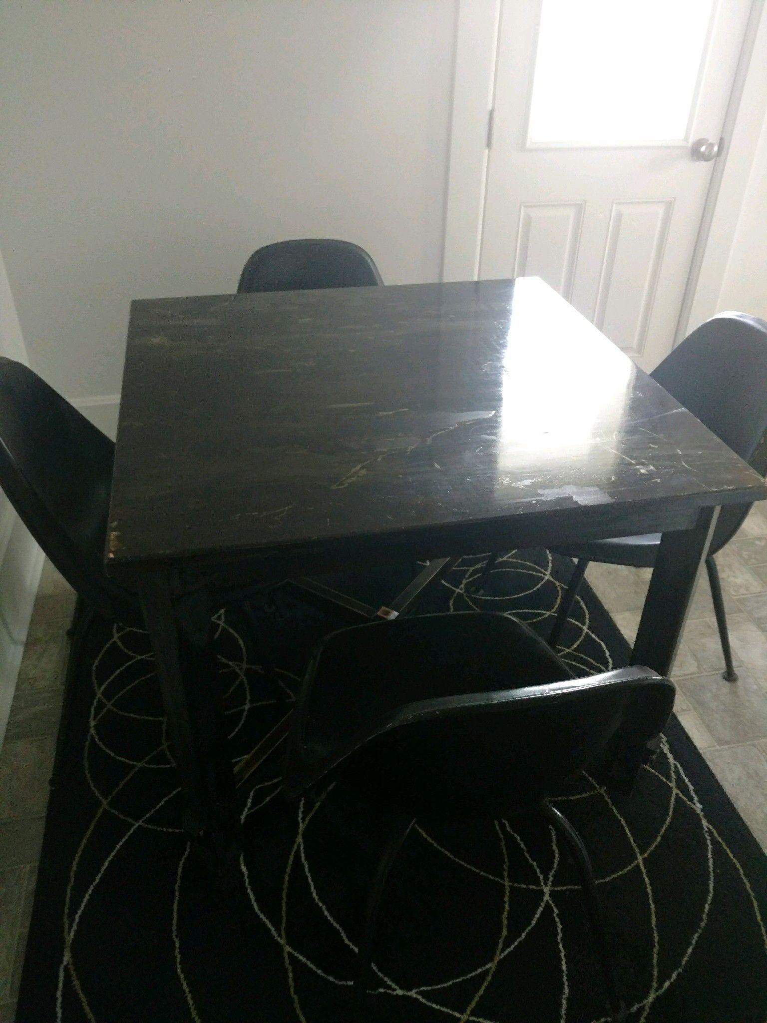 Square kitchen table image 1