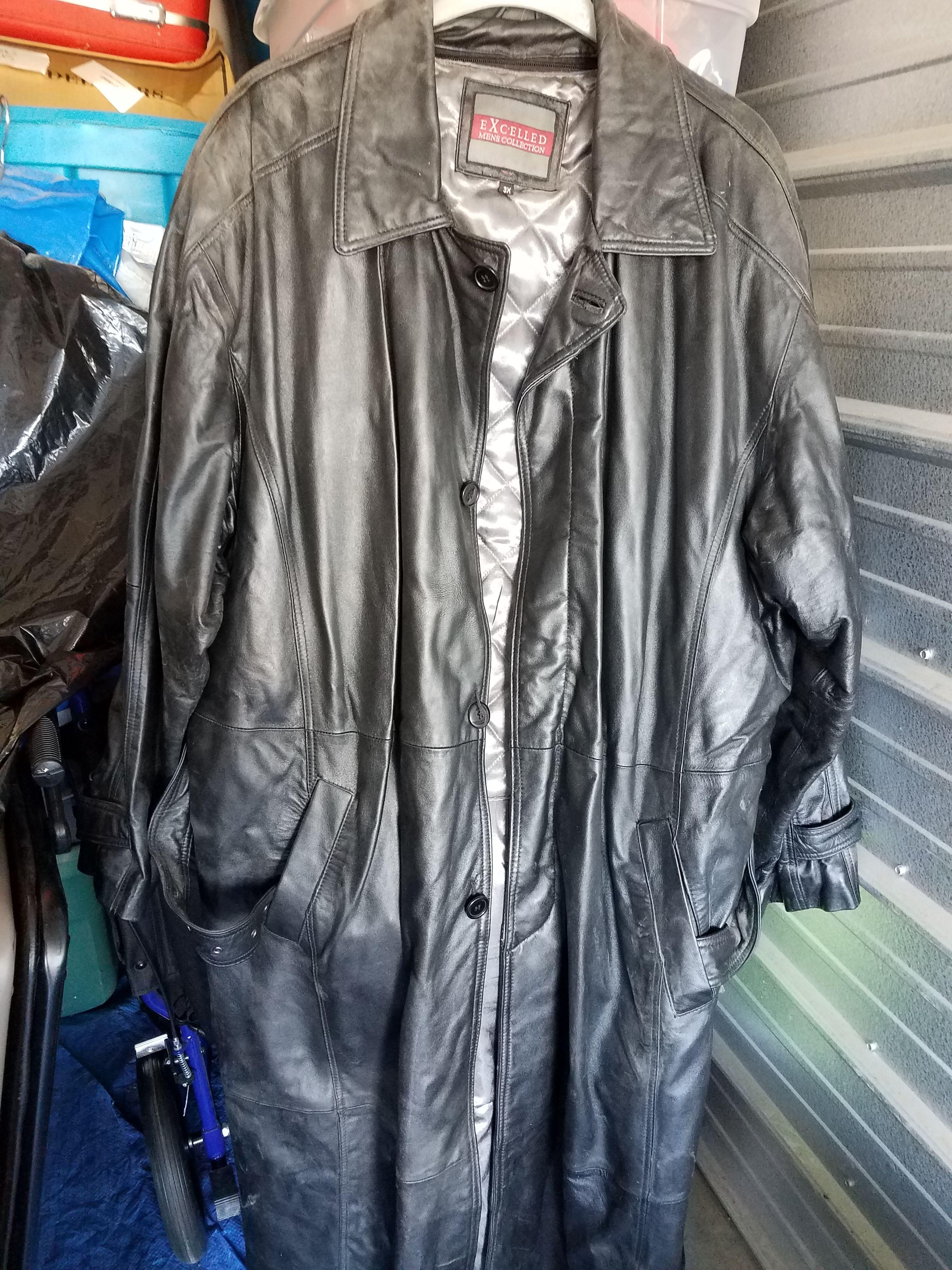 Mens leather coat image 1