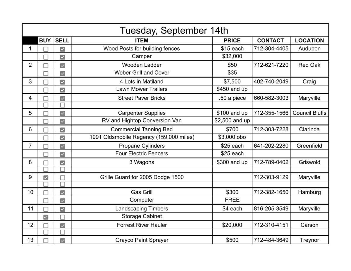 Tuesday, September 14th