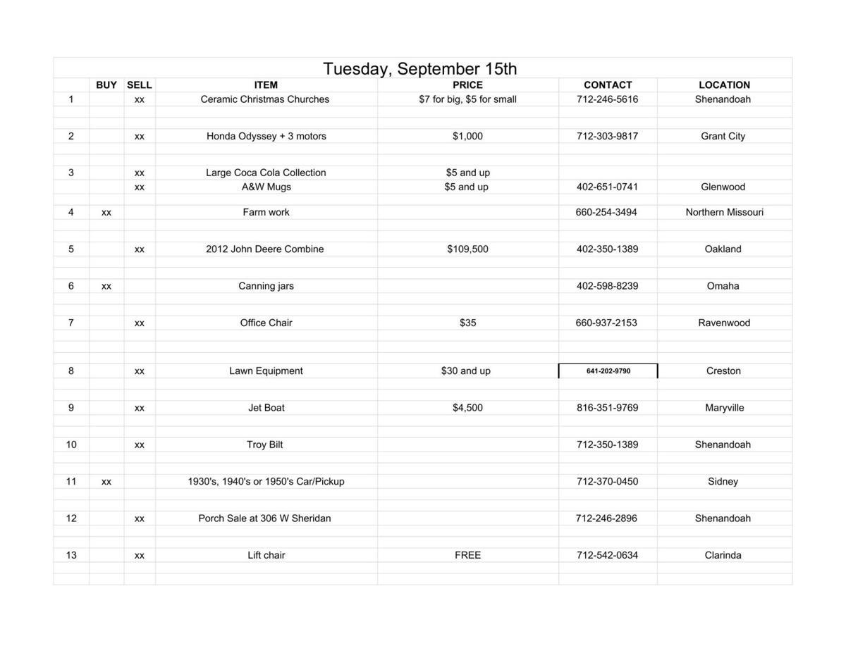 Tuesday, September 15th