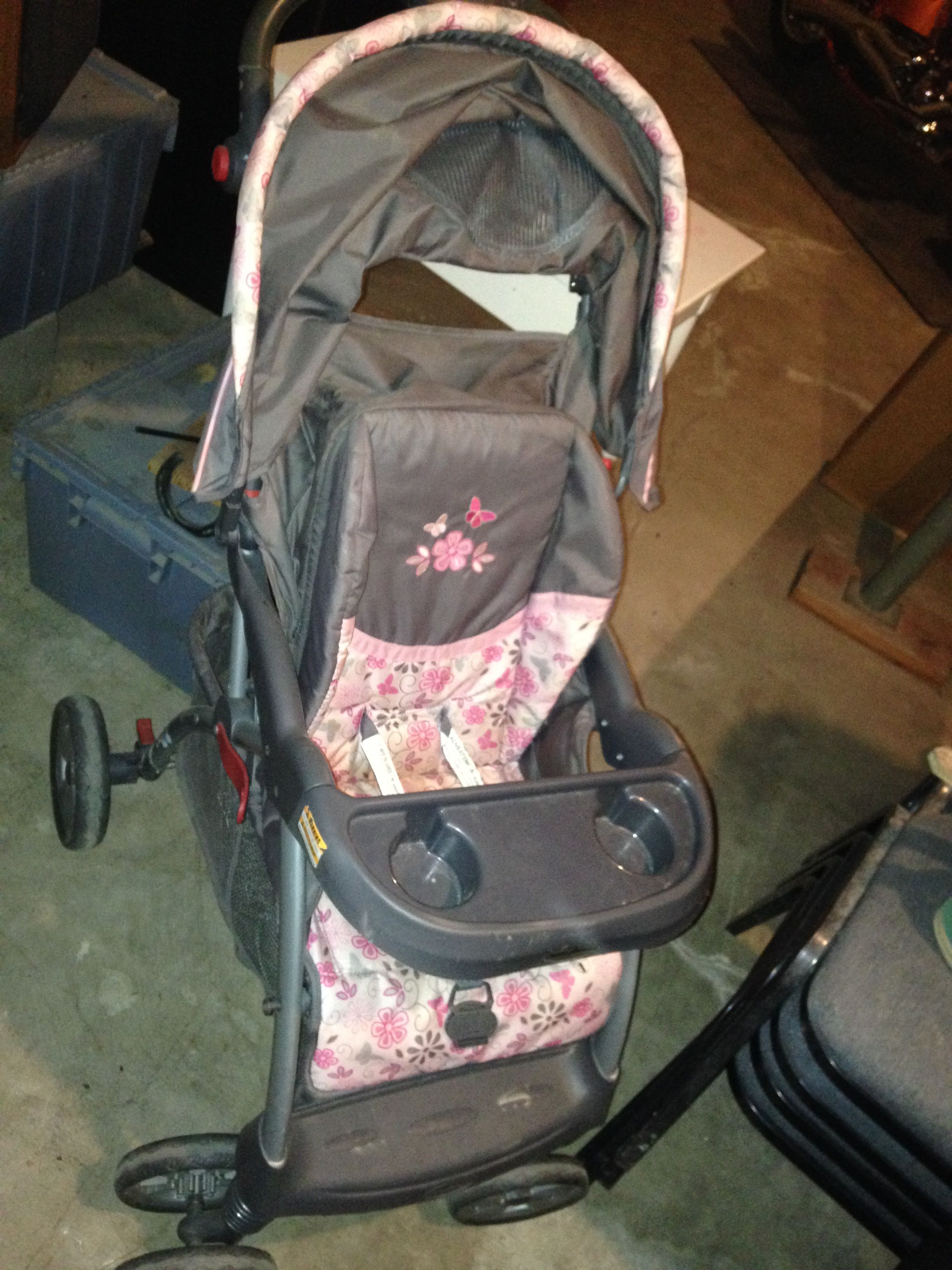 Stroller pink and gray image 1