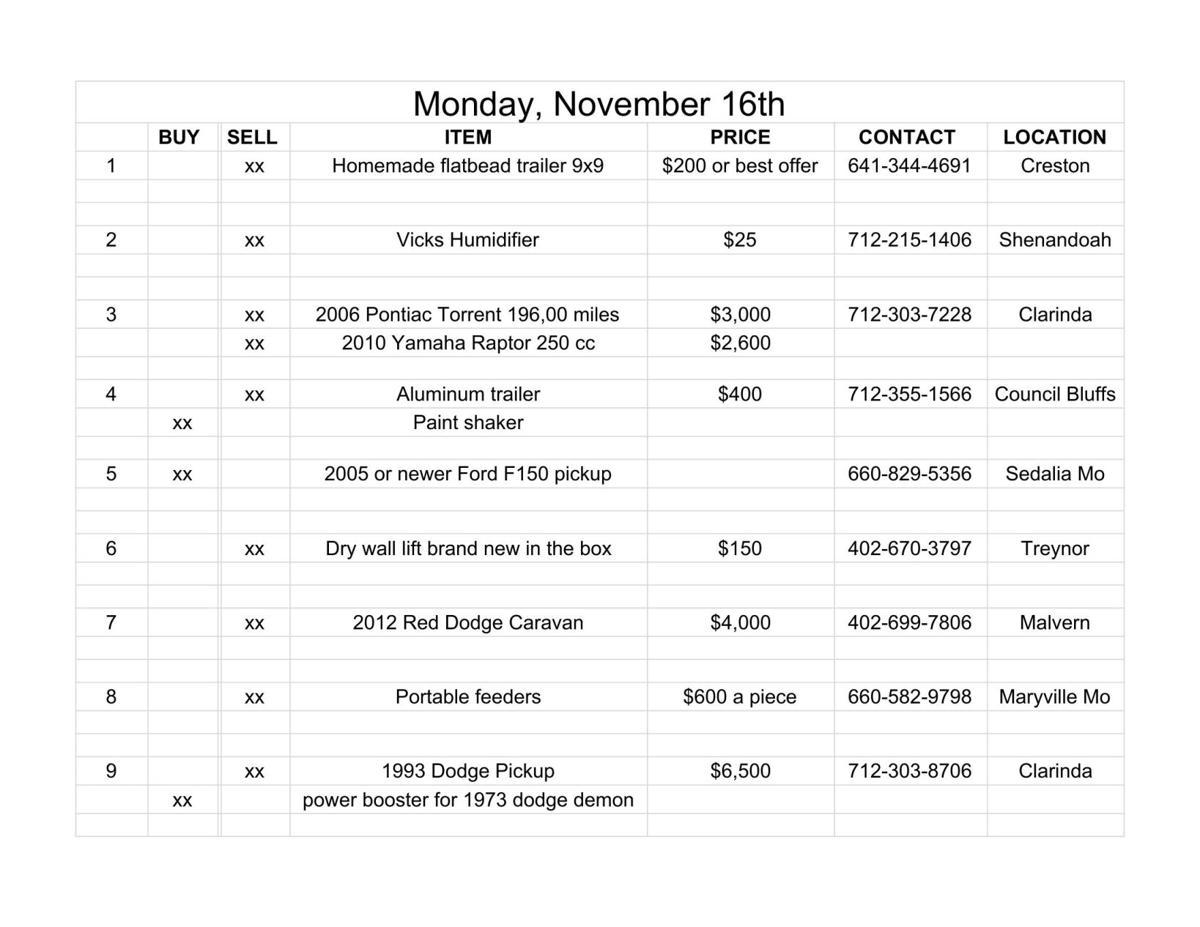 Monday, November 16th