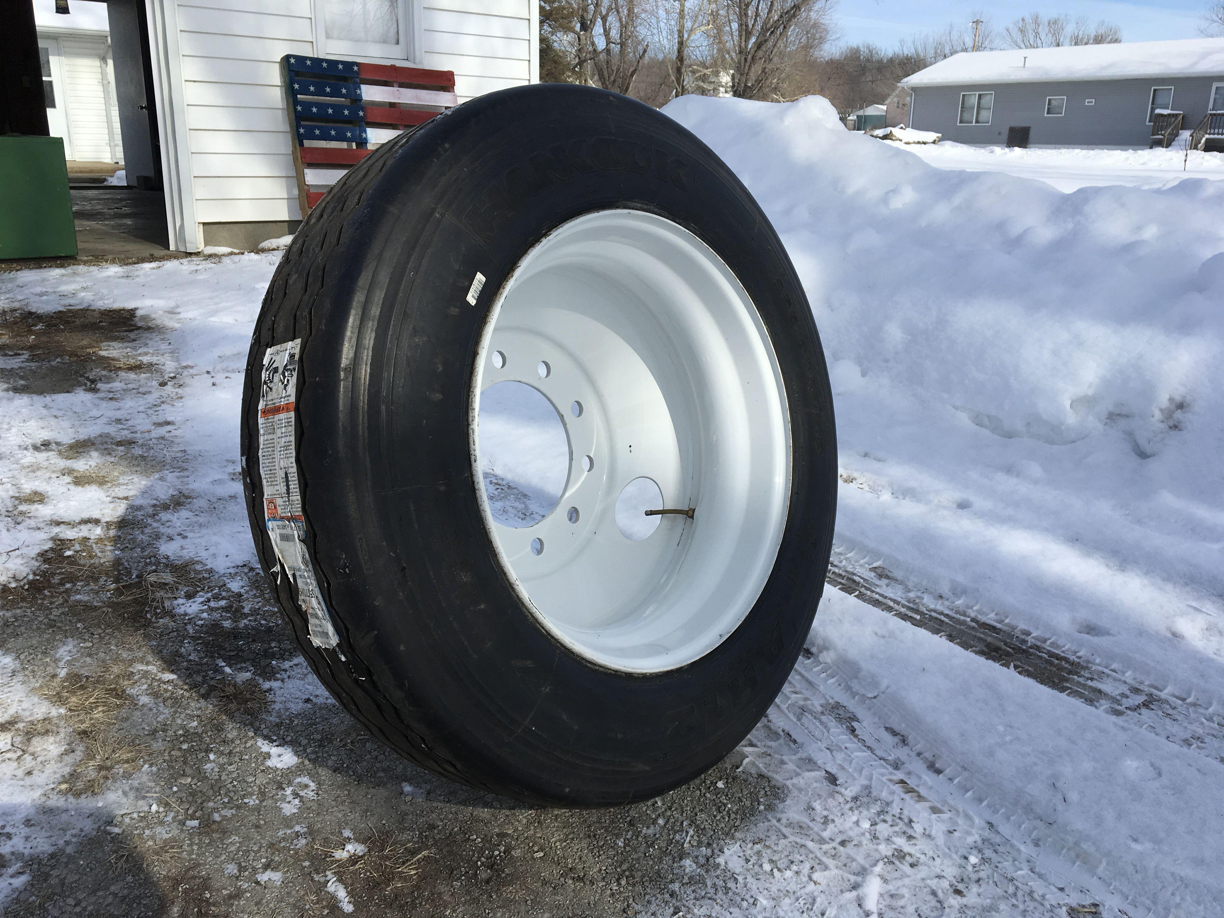 Semi truck tire image 1