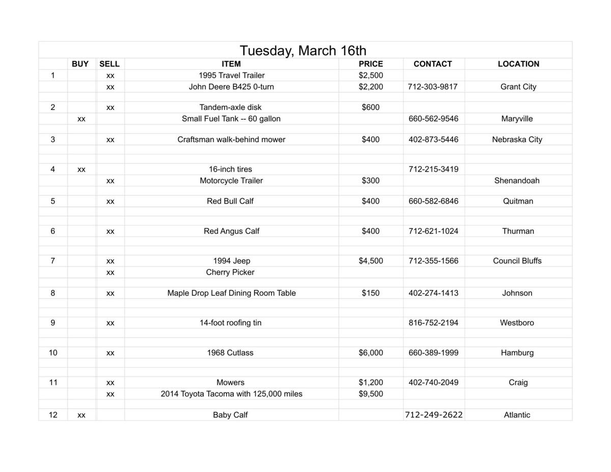 Tuesday, March 16th