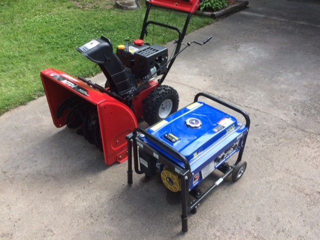 Snowblower and generator image 1