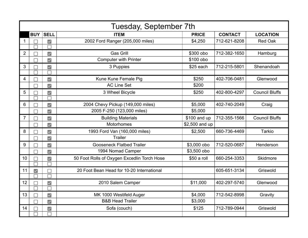 Tuesday, September 7th