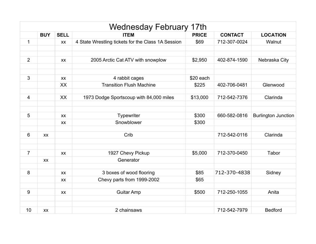 Wednesday February 17th