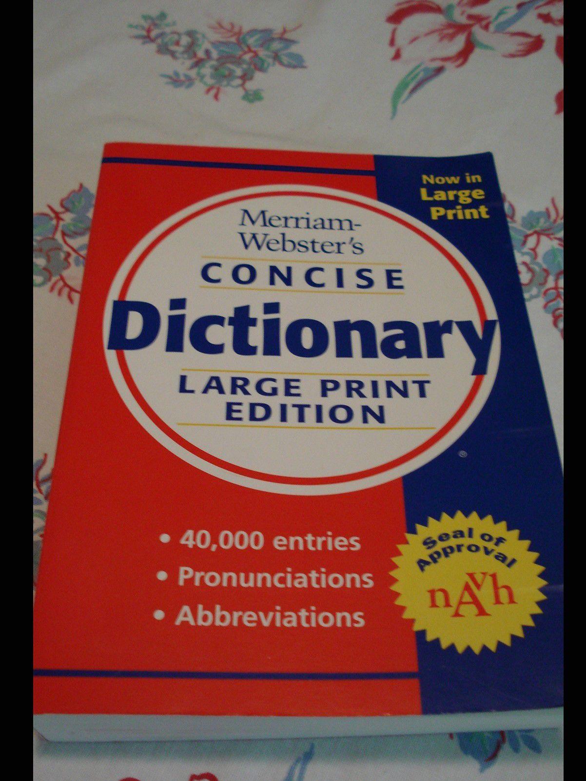 Like New Large Print Dictionary image 1