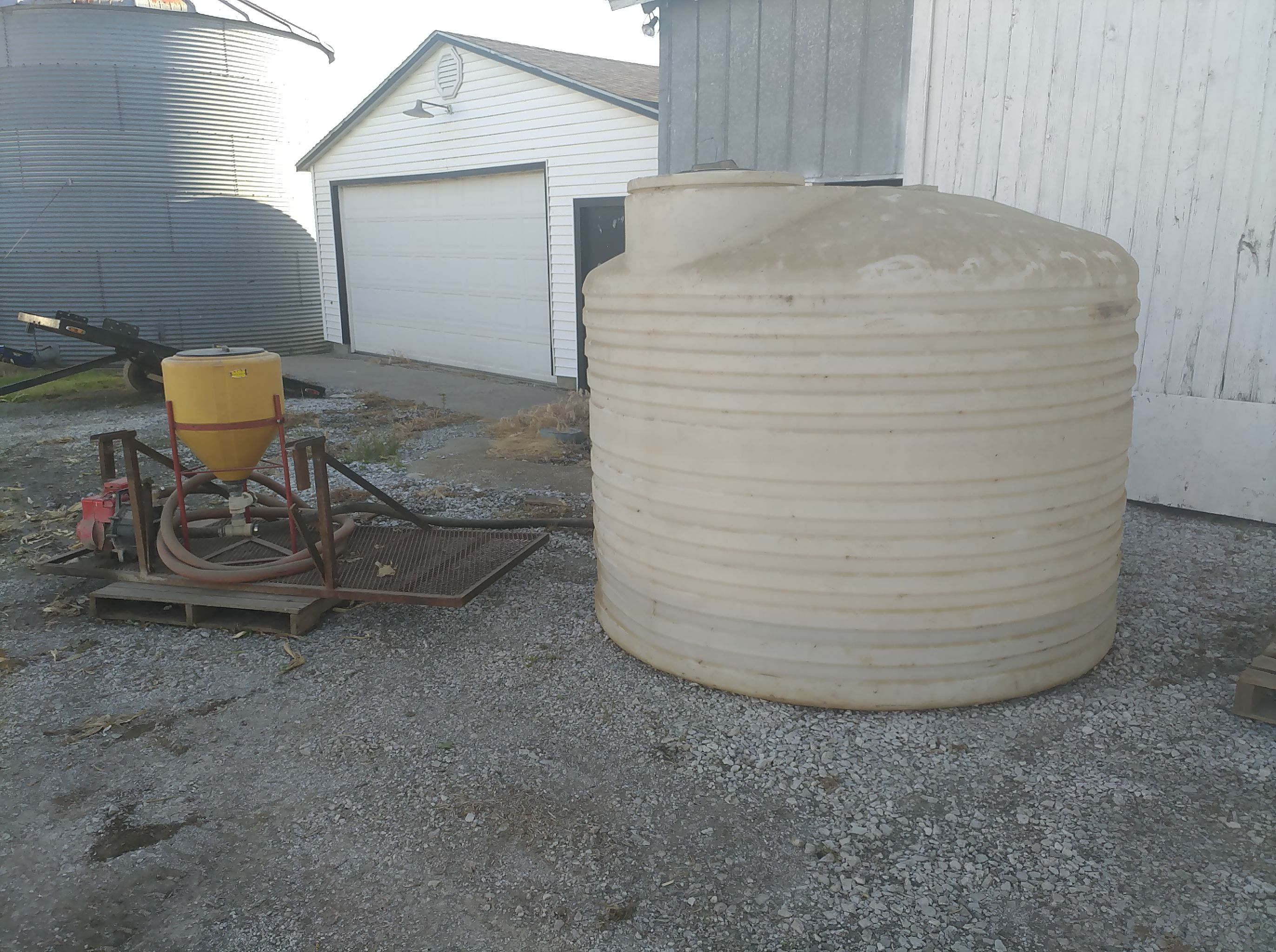 Water tank & transfer pump. image 1