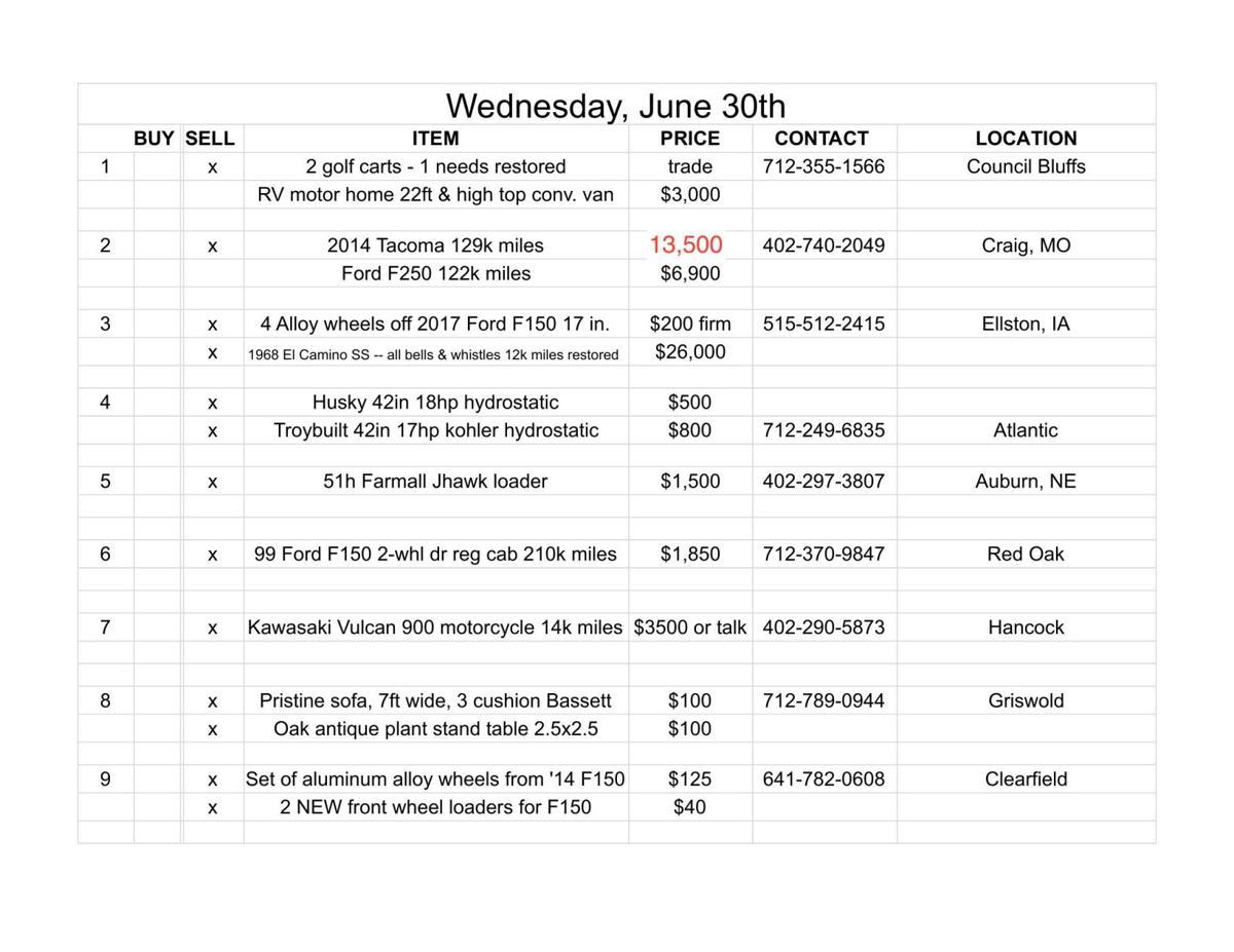 Wednesday, June 30th