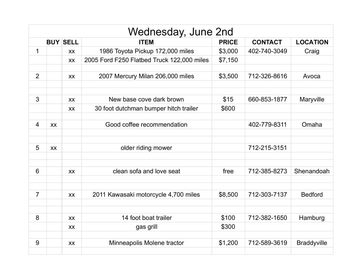 Wednesday, June 2nd