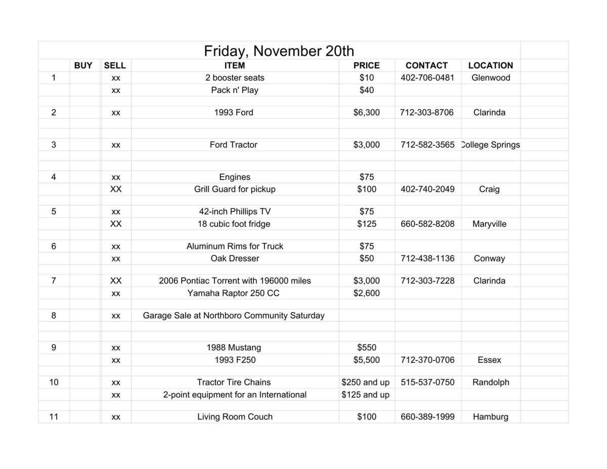 Friday, November 20th