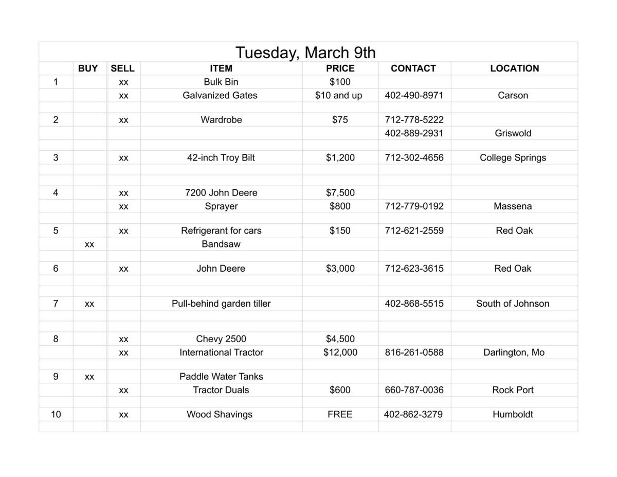 Tuesday, March 9th